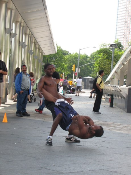 Street performance in New York