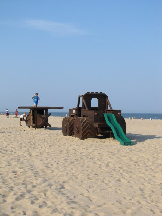 Play equipment on the beach in Ocean City