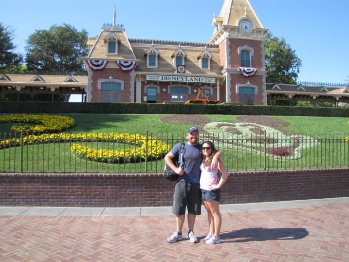 Standing outside Disney World