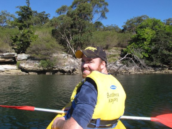 Kayaking in Bundeena