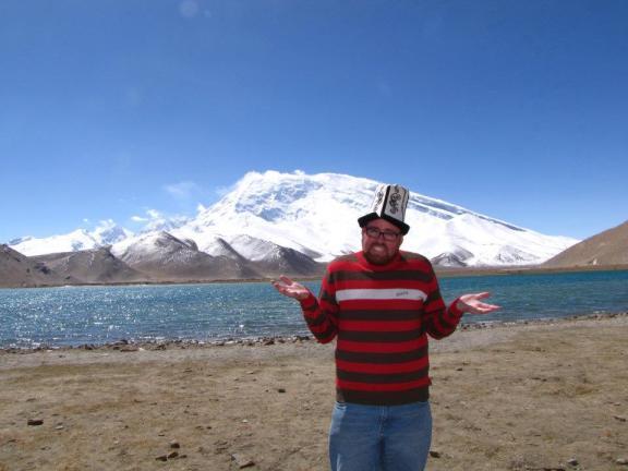 Pondering the meaning of life by Lake Karakul in Xinjiang, China