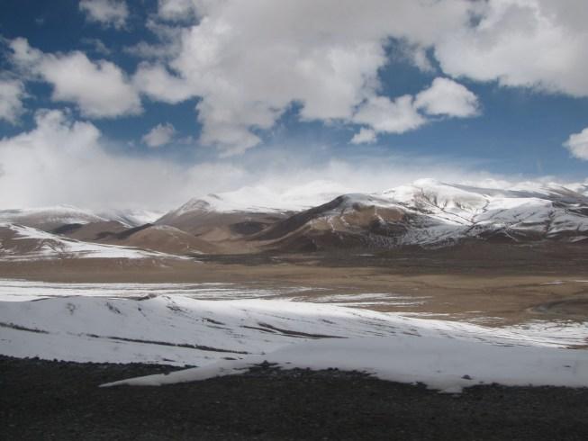 Snow-capped peaks along the Karakorum Highway. Photo by me.