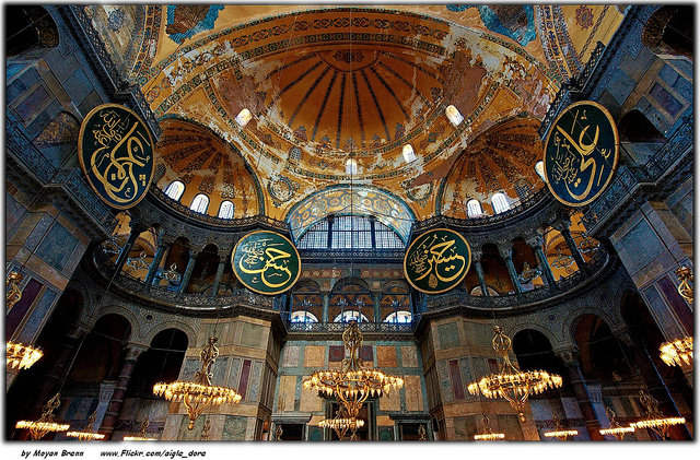 Hagia Sophia interior. Photo by Moyan Brenn