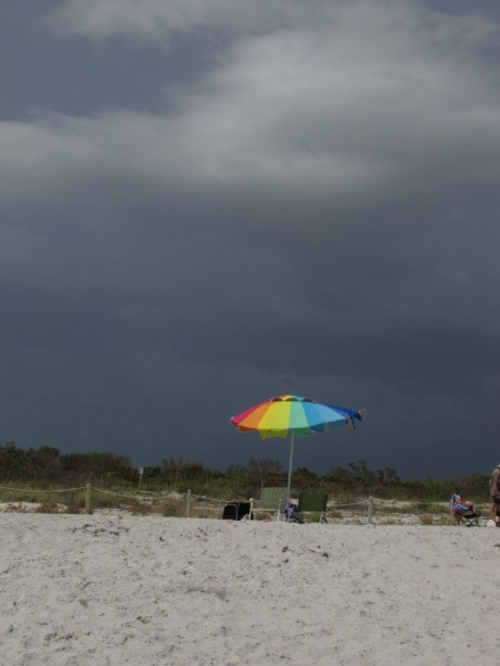 Stormy skies over Sanibel Island.