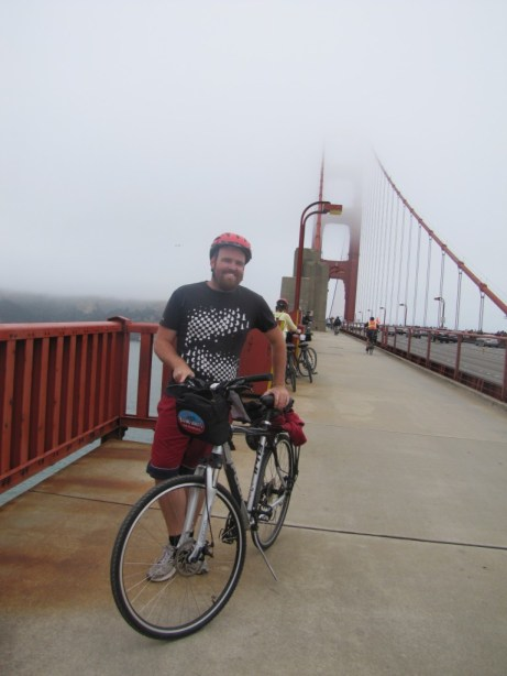 Riding across the Golden Gate during my visit to San Francisco.