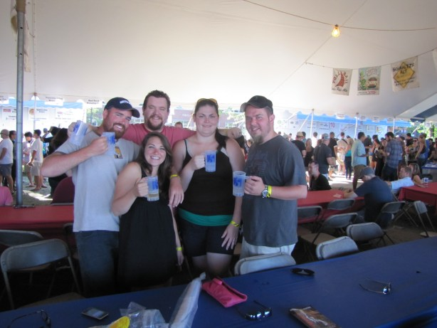 Hanging out with friends at the Oregon Brewer's Festival