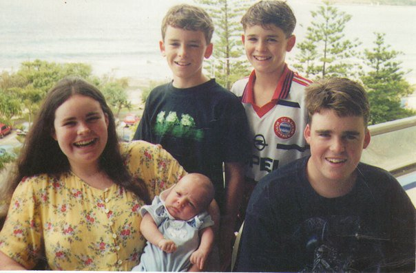 My siblings and I at a 1999 trip to Mooloolaba. So young and naive!