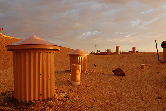 Like something out of post apocalyptic fantasy, the chimneys of Coober Pedy. Photo by whale05