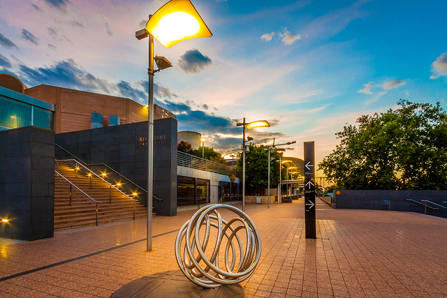 The Path of Lights in Adelaide offers wonderful views of the River Torrens.