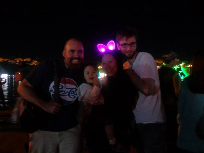 Reunited with old friends at the Jinju Lantern Festival