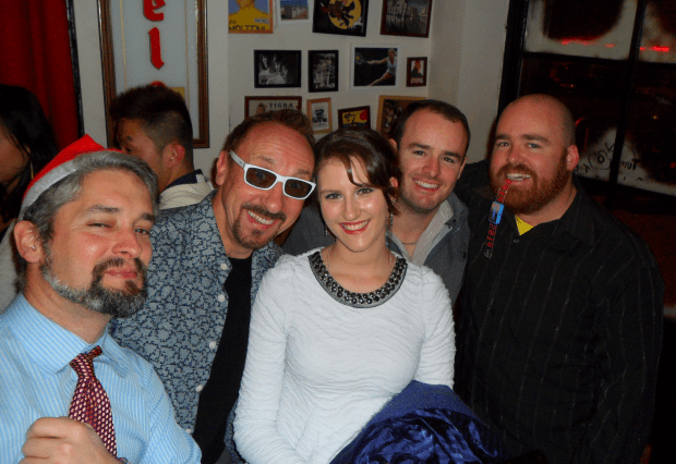 Dom, Bronte, Dave, Byron, and I ring in the New Year in Nanjing with the Nanking Nation