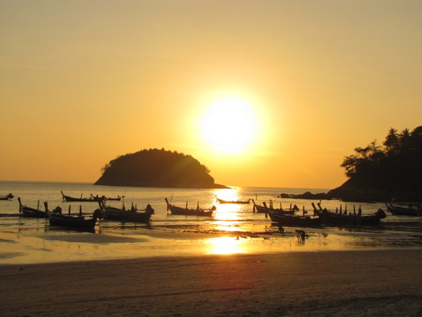 A man could get used to Thai sunsets...