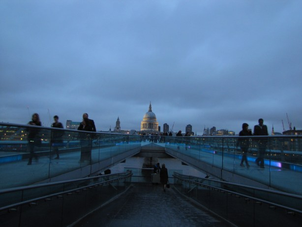 Looking back across the bridge at St. Paul's Cathedral.