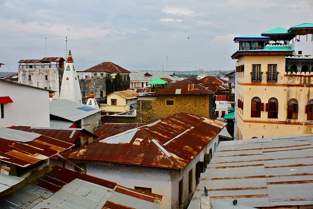 The rooftops of Stone Town. Photo by Kyle Taylor.