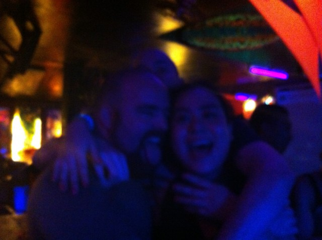 The couple in question and I take a drunken selfie at A Summer Place.