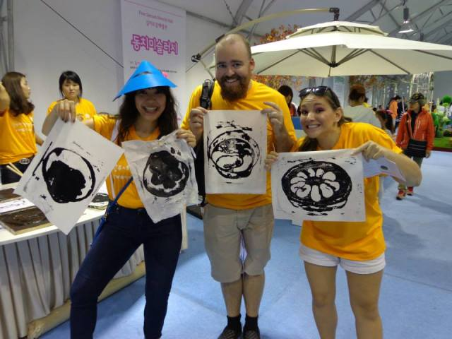 Team Ramrod posing with our kimchi prints.