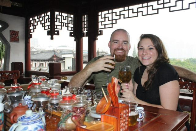 Nomadic American and I on her first day in Shanghai.