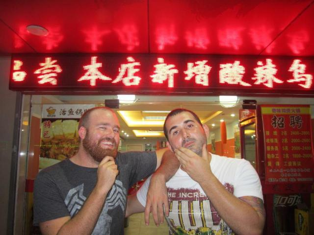 Some friendships stand the test of time and distance. My best mate and I catching up while he was in China.
