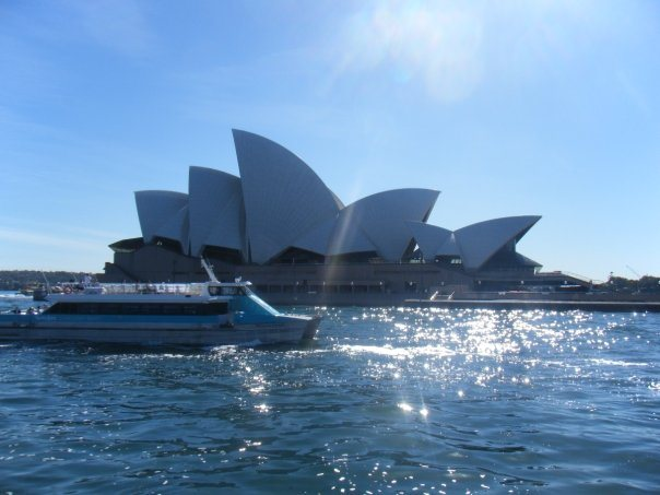 The ferry across to Manly offers a unique perspective of the Opera House.