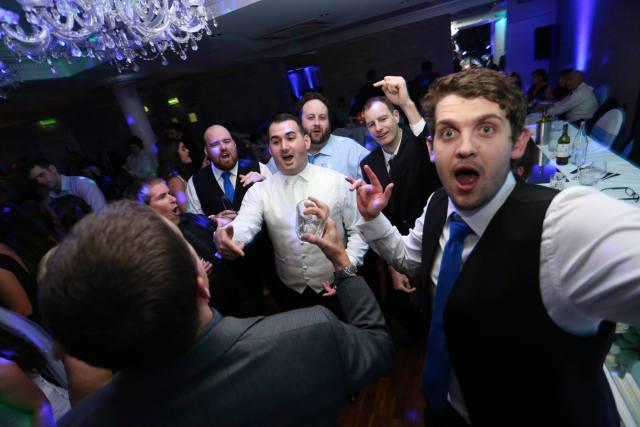 men at a party