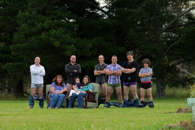 My family (minus my youngest niece) rocking an unorthodox family photo.