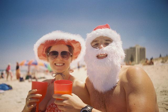 beach christmas