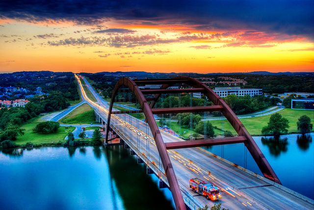 It's no Sydney Harbour Bridge, but Austin's Pennybacker (Loop 360) bridge is pretty fine. Photo by Jim Nix.