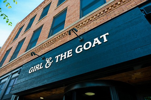 Girl and Goat in Chicago.