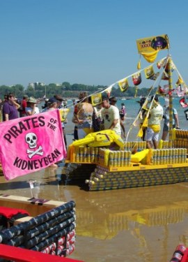 Another only in Australia moment. A boat race with boats built from beer cans.