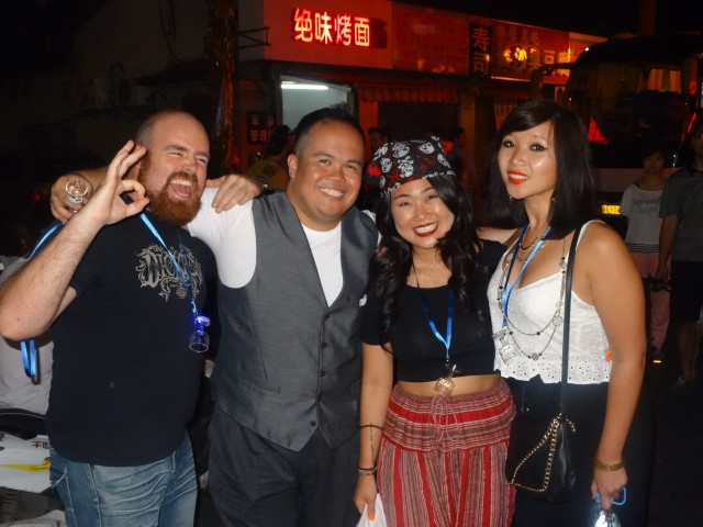 Myself, Hani, and two of the coolest girls in the universe.