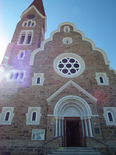 The picturesque Christuskirche is one of Windhoek's most well-known landmarks.