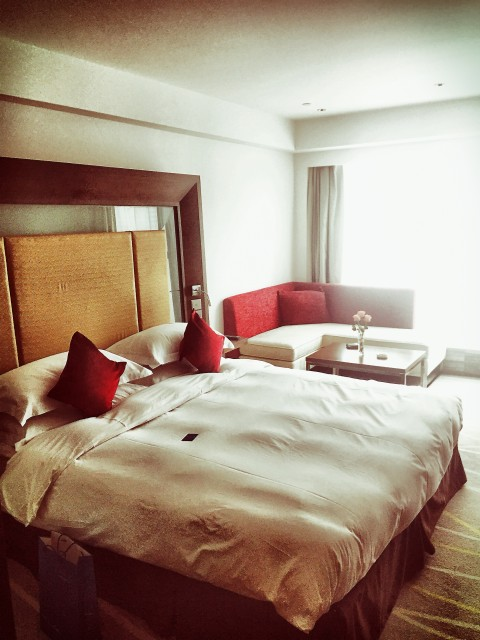 My heavenly bed at Nanjing Novotel Central.
