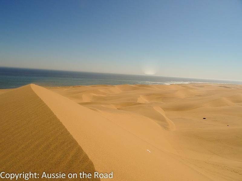 The dunes meet the sea. Stunning.