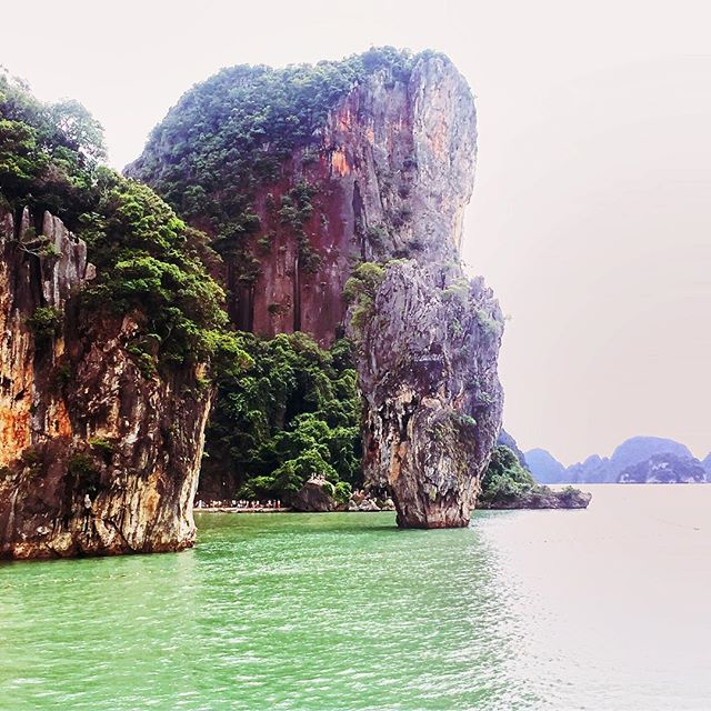 James Bond Island as seen from behind. Much less crowded.