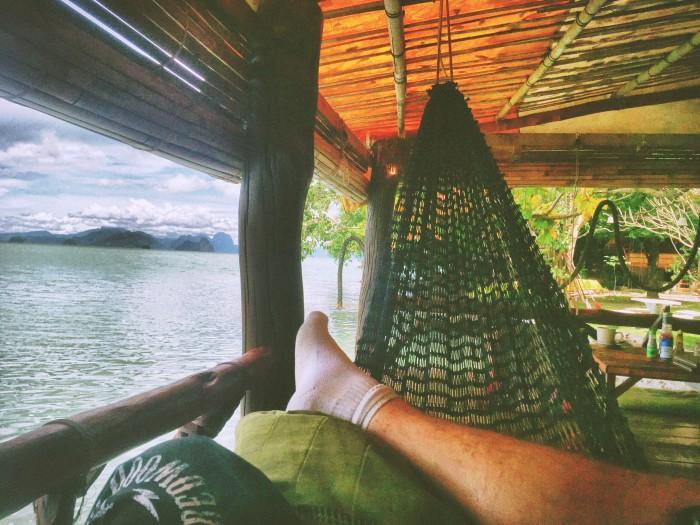 Heaven is a hammock on a hot day.