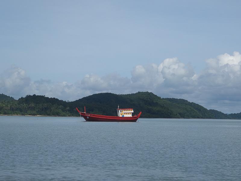 fishing boat phang nga bay thailand
