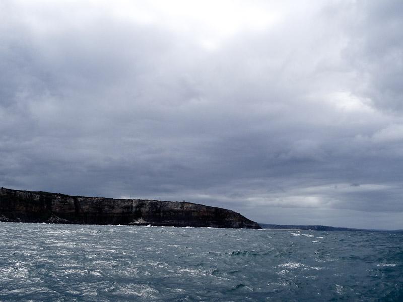 Stormy sky over Sydney Harbour.