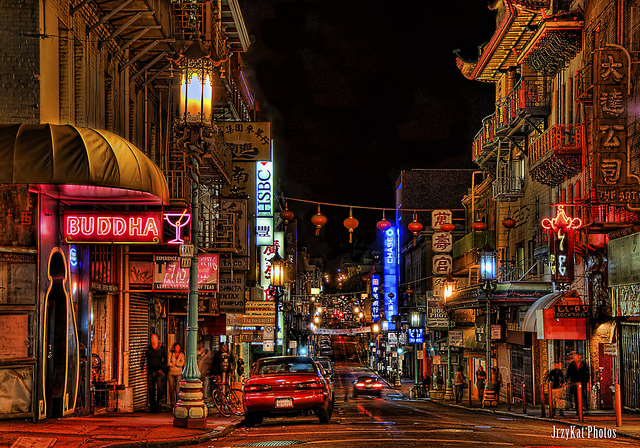 san francisco chinatown night