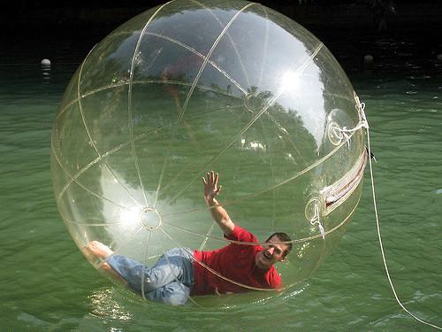 boy in bubble