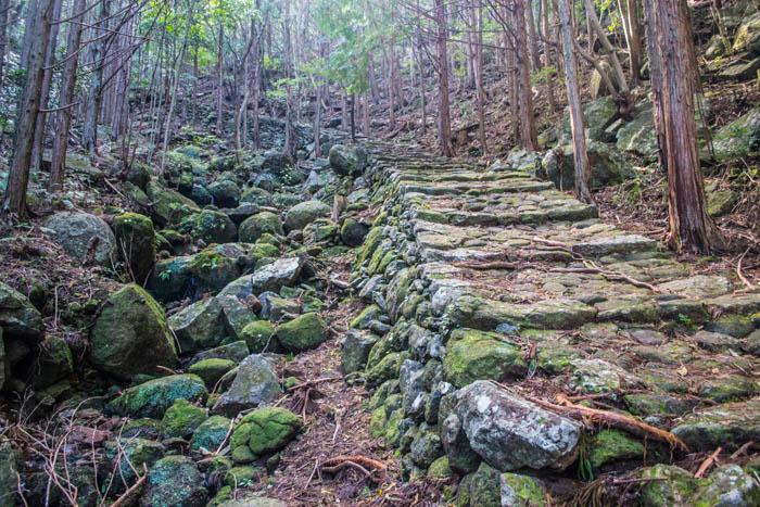 kumano kodo stone stairs itinerary