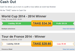 Betfair cash out feature