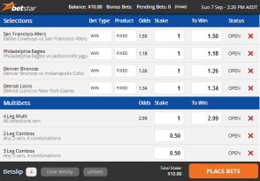 Betstar betting slip