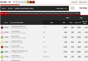 Ladbrokes racing interface