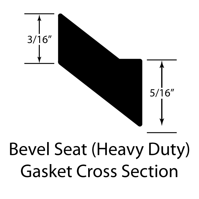 Heavy Duty PTFE Bevel Seat Gasket Sanitary Seals, White