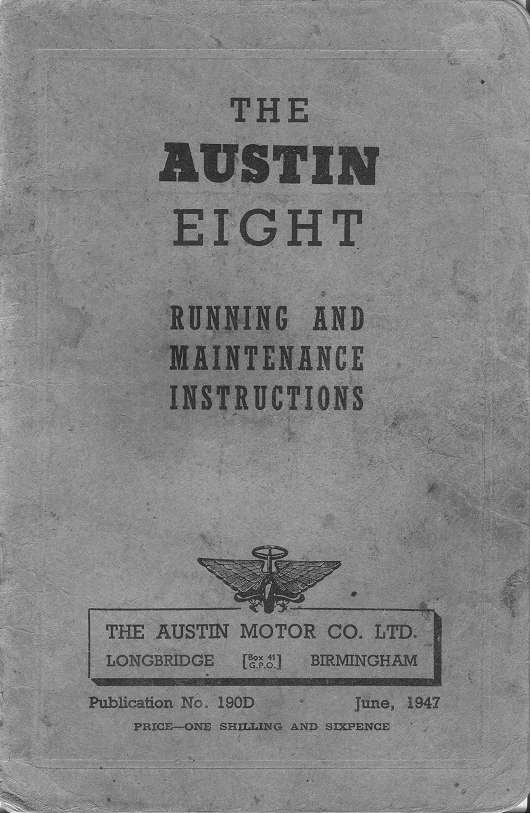 Austin Eight manuals
