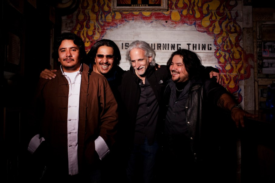 Los Lonely Boys and Kevin Wommack_Photo Courtesy of Playing in Traffic