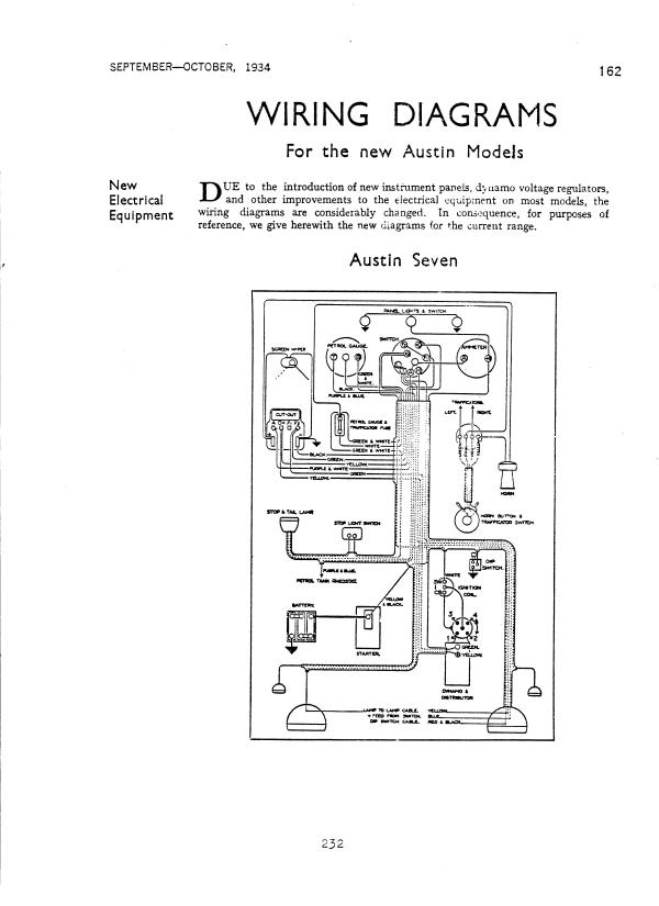 austin big seven wiring diagram