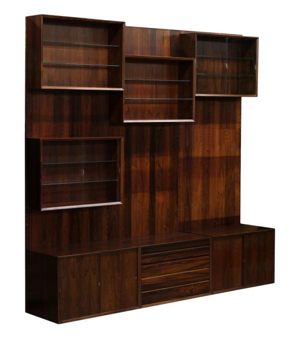 Danish Mid-century Modern Rosewood Wall Unit - Important