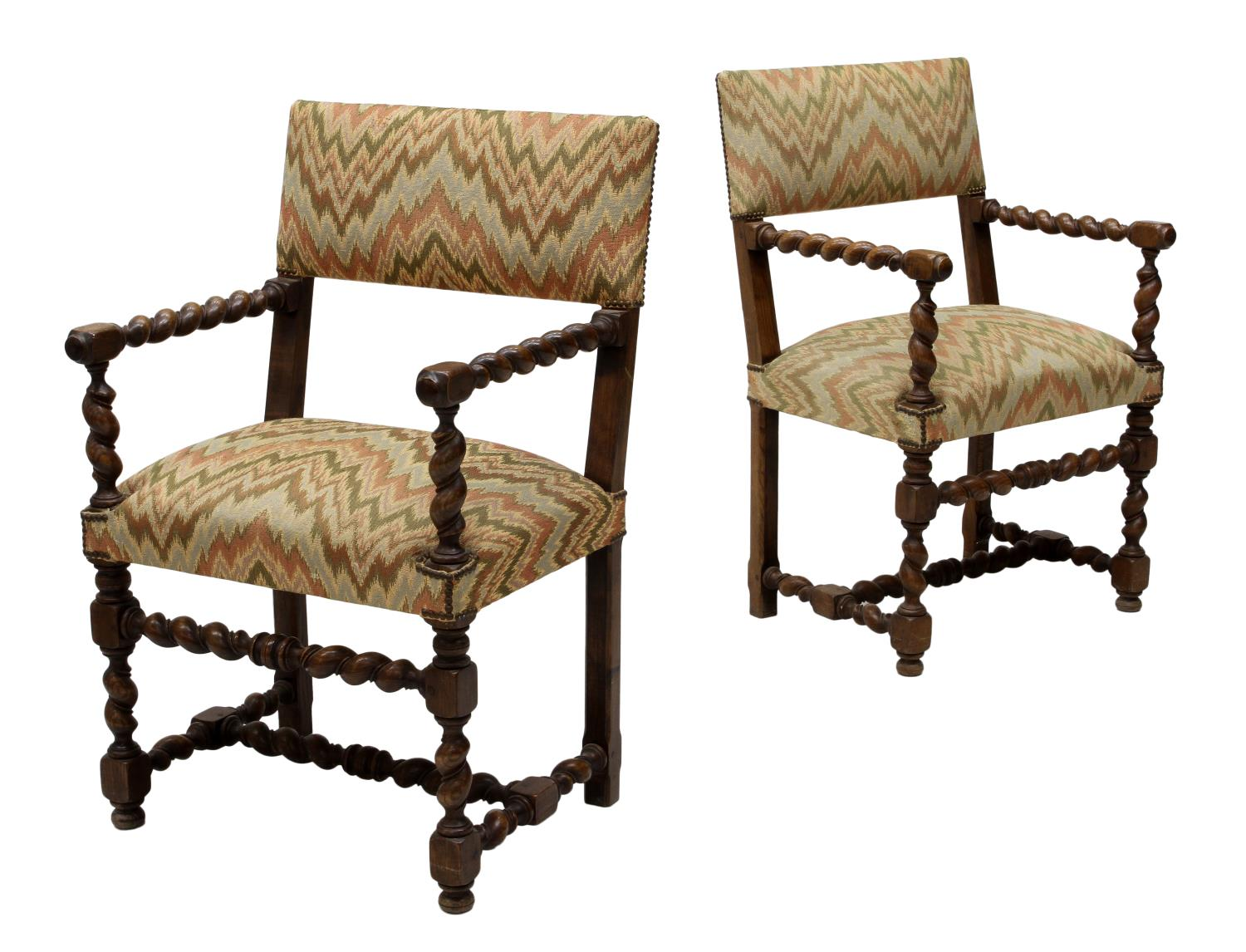 barley twist chair elephant rocking 2 arm chairs important two day auction