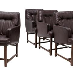Buttoned Leather Chair Water Hammock Lounge 4 Wormley Dunbar Set Spring Two